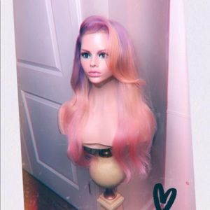 Accessories - Lavender Pink Sorbet Lace Frontal Pastel Wig
